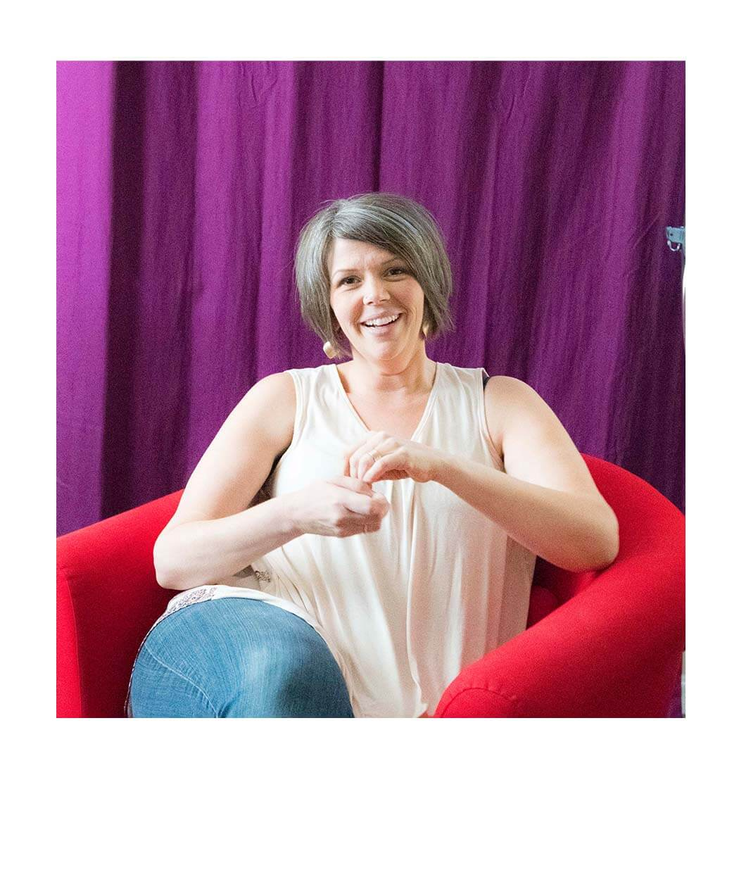 Michelle colorful red chair
