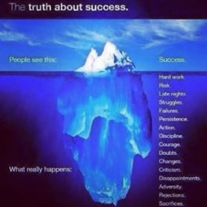 Inspirational office poster with an iceberg